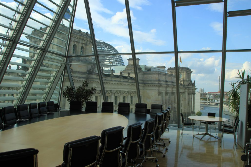 Blich auf das Reichstagsgebäude